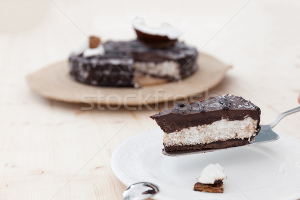 Raw vegan bounty cake Stock photo © blanaru
