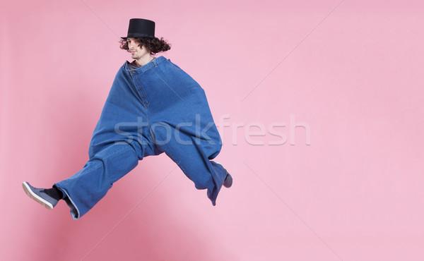 Voador homem moço extra grande Foto stock © blanaru