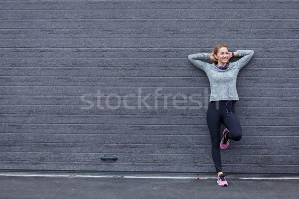 Musique âme fitness femme Photo stock © blanaru