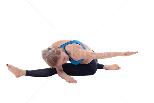 Stretching of femural biceps with torso twist Stock photo © blanaru