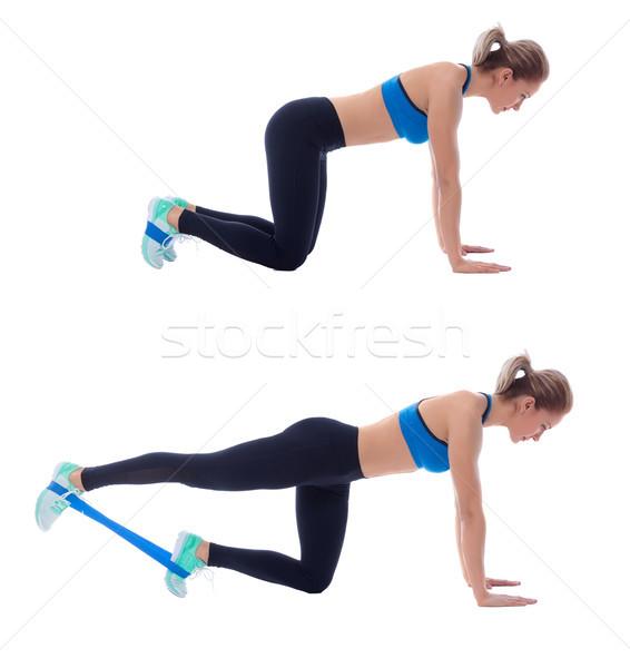 Elastik bant profesyonel kadın spor Stok fotoğraf © blanaru