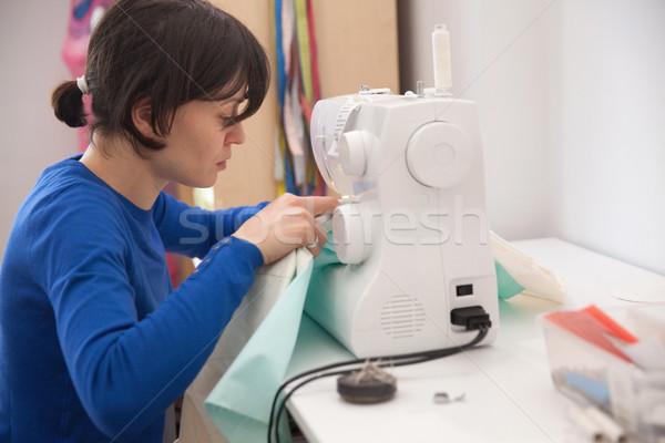 ミシン 若い女性 仕立て 独自の 中小企業 女性 ストックフォト © blanaru