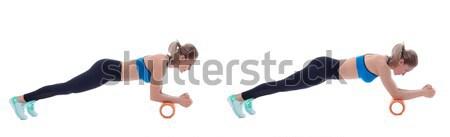 Foam Roller Exercises Stock photo © blanaru