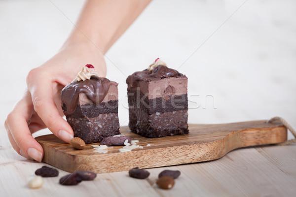 Taking a raw vegan cake Stock photo © blanaru