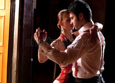 Stok fotoğraf: Tango · adam · kadın · romantik · dans · görmek