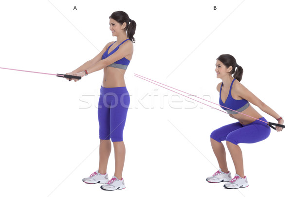 Cable squat to row Stock photo © blanaru