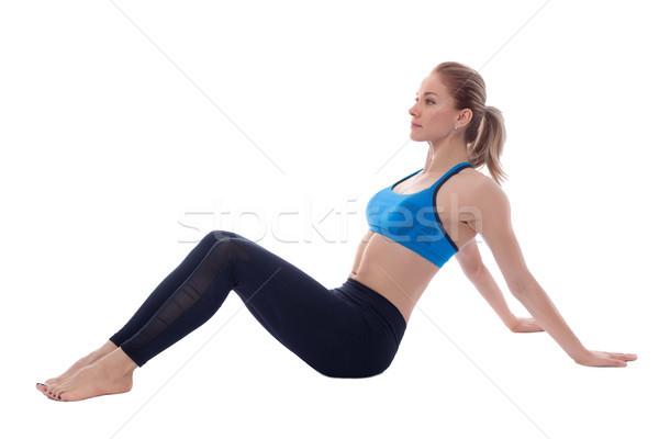 Bíceps músculo pose profissional treinador Foto stock © blanaru