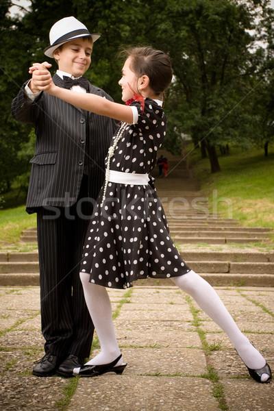 Dance портрет ретро одежда позируют Сток-фото © blanaru