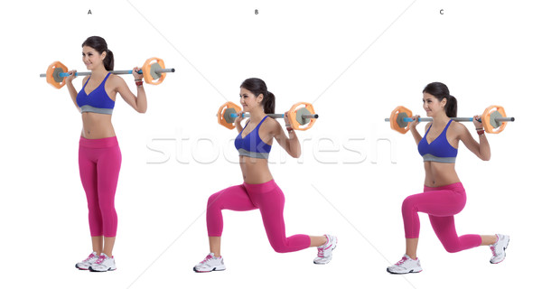 Barbell lunges Stock photo © blanaru