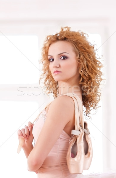 Büszke engem ballerina nő lány szem Stock fotó © blanaru