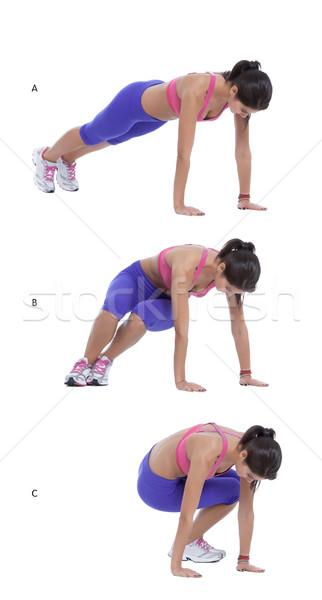 Saltando passo instruções posição mãos Foto stock © blanaru