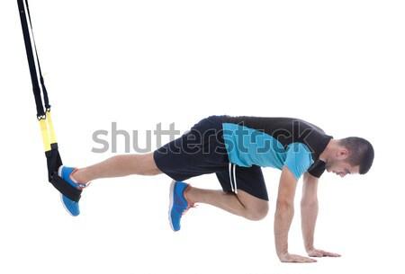 Músculo pose profissional treinador mulher Foto stock © blanaru