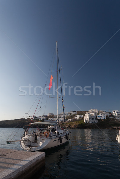 Greek boat bridge Stock photo © blanaru