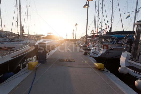 Grieks vakantie resort zonsopgang eiland veel Stockfoto © blanaru