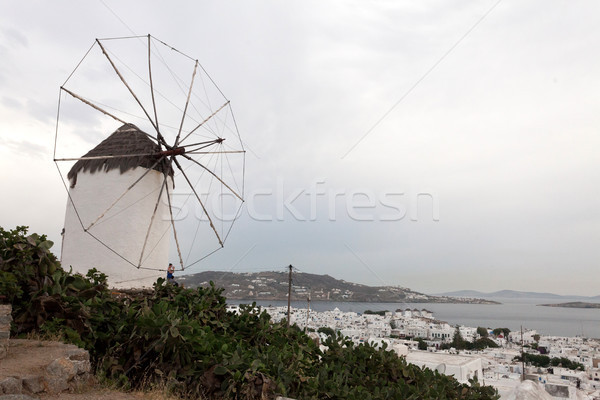 öreg szél malom részlet híres hely Stock fotó © blanaru