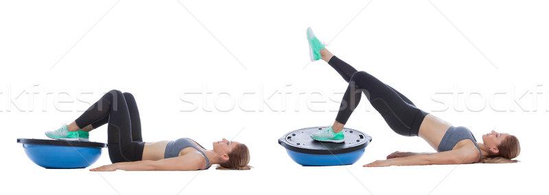 Balance training ball exercise Stock photo © blanaru