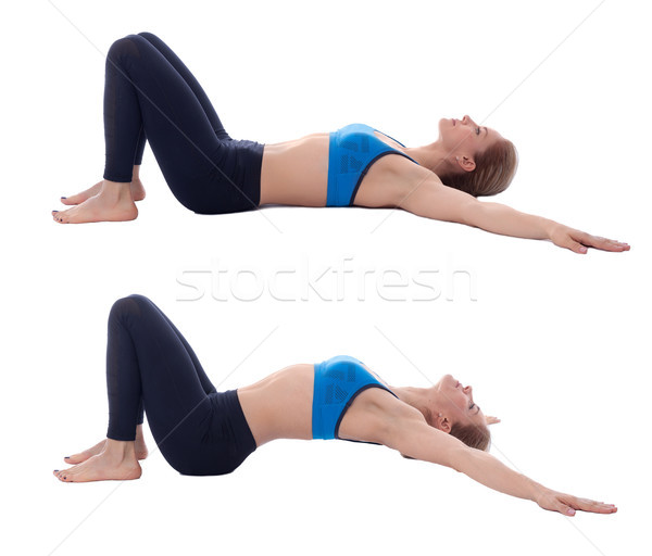Stretching of abdominal muscle Stock photo © blanaru