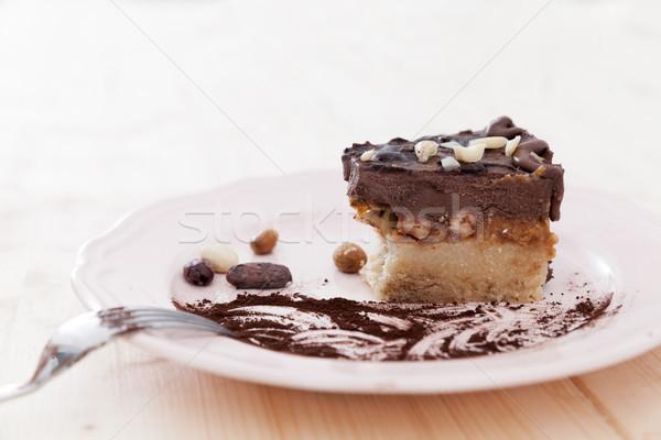 Metade vegan bolo delicioso Foto stock © blanaru