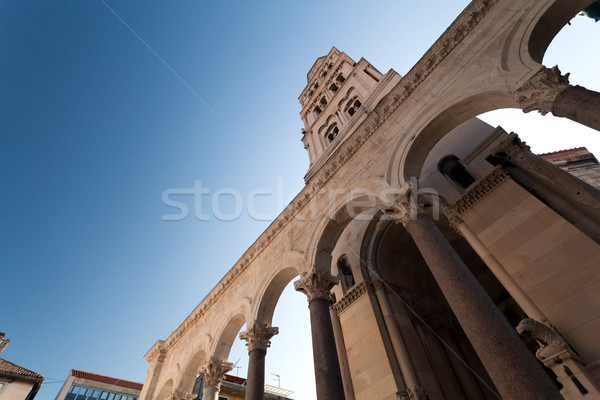 Palácio ruínas catedral sino torre cidade Foto stock © blanaru