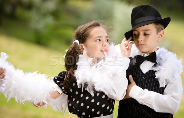 Táncos pár fiatal pér tánc szórakozás több Stock fotó © blanaru