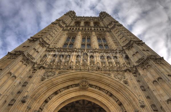 Kule detay towers parlamento Büyük Britanya büyük britanya Stok fotoğraf © blanaru