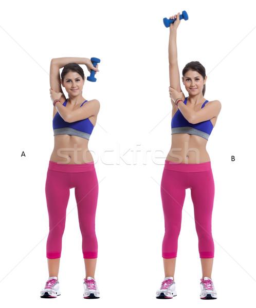 Triceps stap instructies start permanente Stockfoto © blanaru