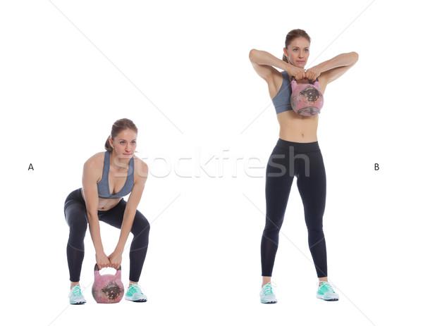 гири высокий спортивный женщину Сток-фото © blanaru
