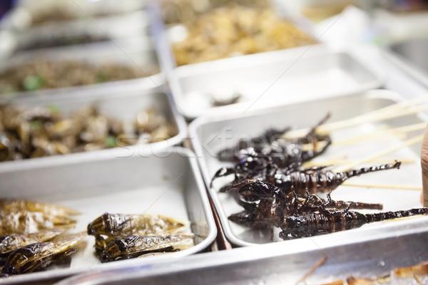 Таиланд уличной еды различный свежих продуктов Бангкок город Сток-фото © blanaru