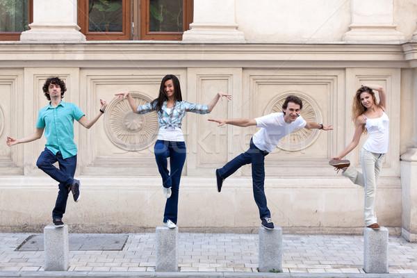 Amusement jeunes heureux couples magnifique qualité Photo stock © blanaru