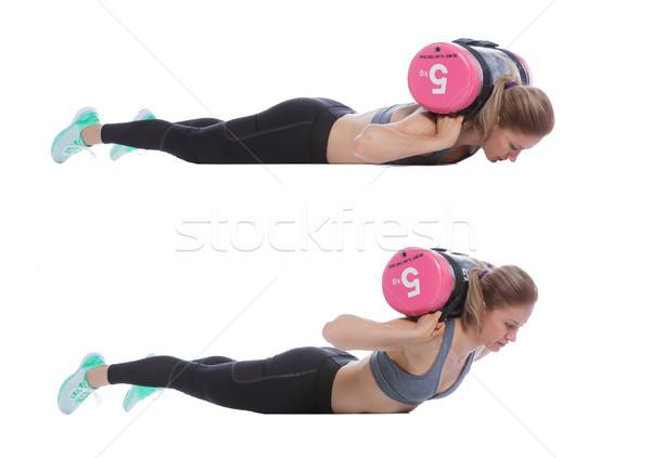 Núcleo bolsa ejercicio profesional entrenador mujer Foto stock © blanaru