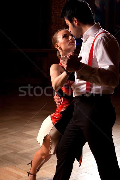 Stock fotó: Tangó · gyönyörű · táncosok · előad · csekk · hasonló
