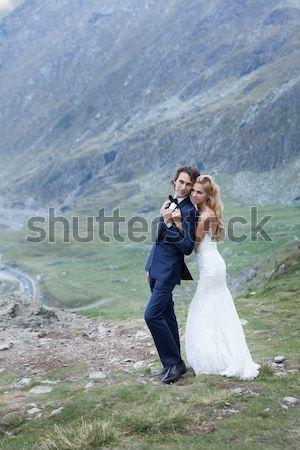 Stockfoto: Echtpaar · genieten · mooie · bewonderen · bries