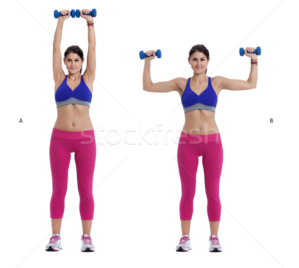 Dumbbell exercise for arms Stock photo © blanaru