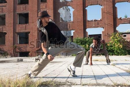 энергичный молодые хип-хоп улице танцовщицы афроамериканец Сток-фото © blanaru