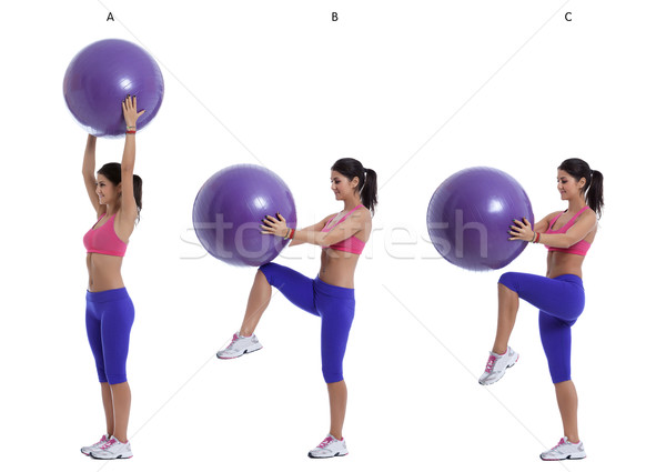 Swiss ball exercise for abs Stock photo © blanaru
