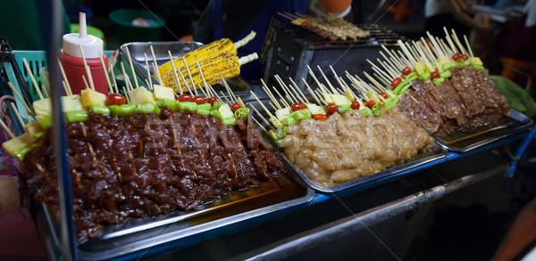 Foto stock: Tailândia · comida · de · rua · alimentos · frescos · Bangkok · cidade