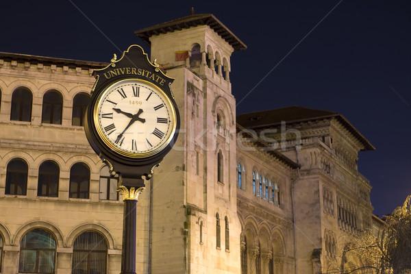 города часы большой старые стиль квадратный Сток-фото © blanaru