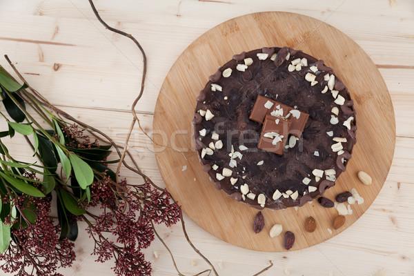 生 完全菜食主義者の ケーキ 美しい プレート 花 ストックフォト © blanaru