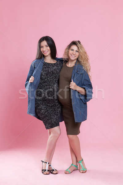 Mode portret jonge vrouwen groot Stockfoto © blanaru