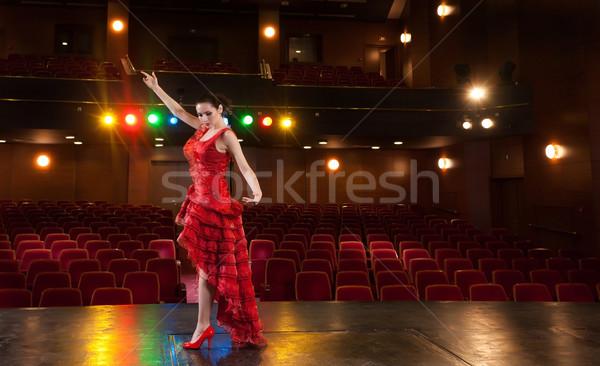 Flamenko tutku seksi dansçı dans Stok fotoğraf © blanaru