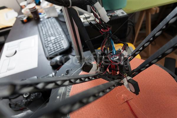 3D printer detail hoofd vergadering bureau Stockfoto © blanaru