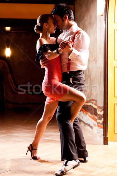 Tango man vrouw dansen focus handen Stockfoto © blanaru
