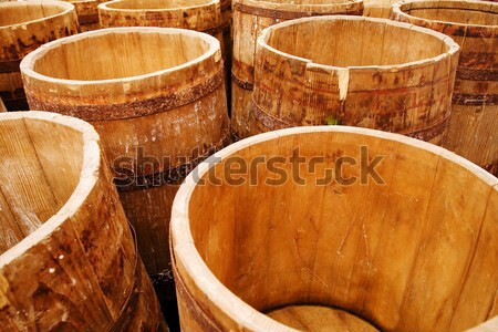 Stock photo: Cheese casks