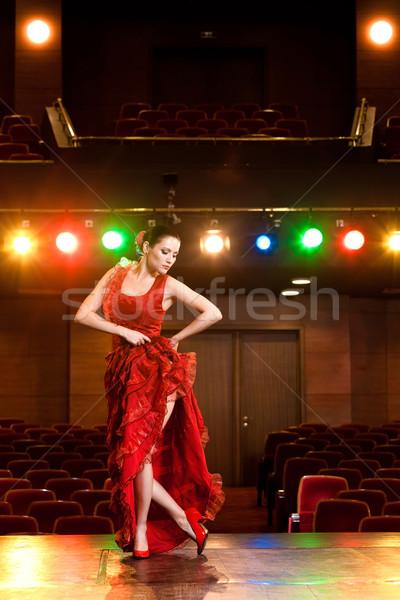 Flamenco pasja sexy tancerz dance Zdjęcia stock © blanaru