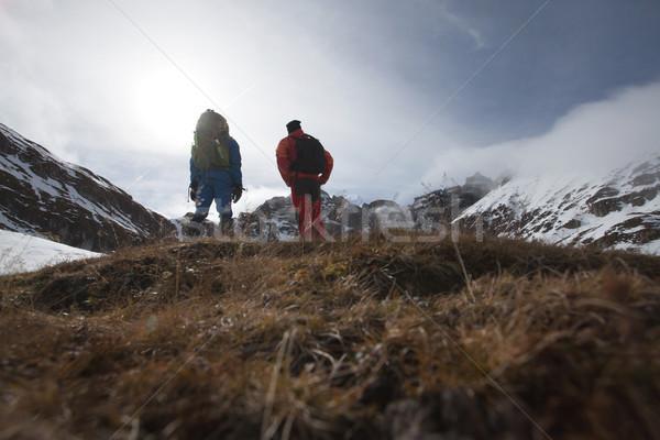 Two man on mountains Stock photo © blanaru