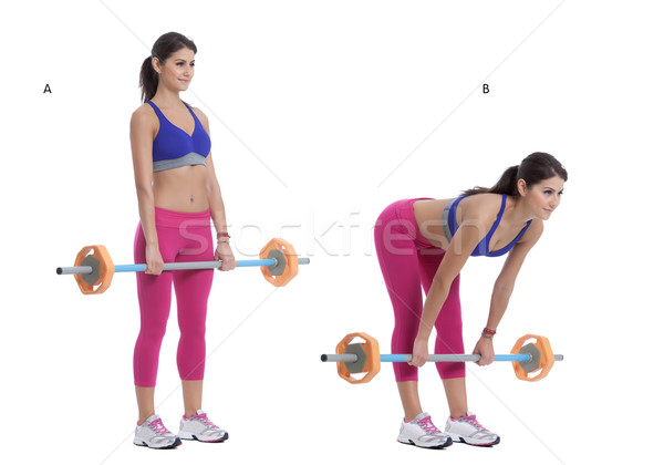 Bent Over Barbell Row   Stock photo © blanaru