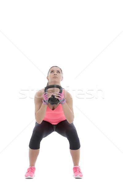 гири осуществлять демонстрация женщину спорт Сток-фото © blanaru