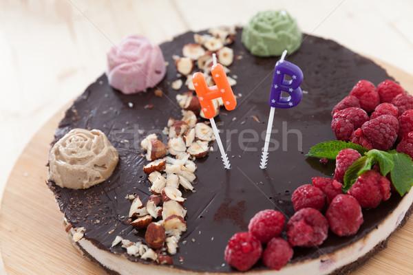 Celebrating raw vegan cake Stock photo © blanaru