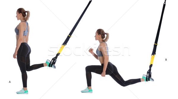 TRX lunge exercise Stock photo © blanaru