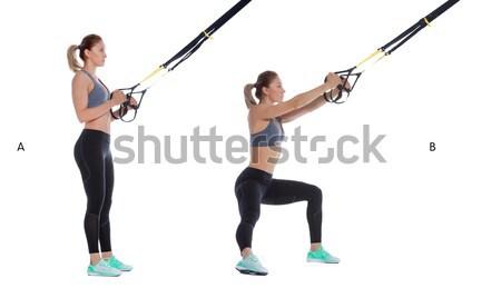 Pose profissional treinador corpo fitness Foto stock © blanaru
